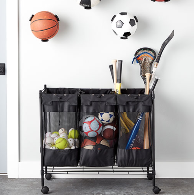 Build a DIY Sporting Goods Center in Your Garage
